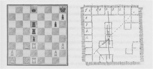 Left: Actual Board Position. Right: Grandmaster's depiction.